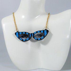 Betsey Johnson Plexi Glasses Eyeglasses Necklace